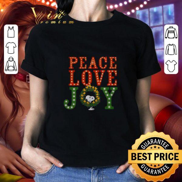 Pretty Peanuts Snoopy peace love joy Christmas shirt
