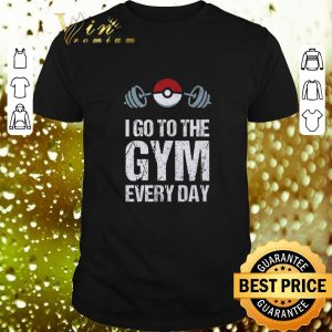 Pretty Pokemon I Go To The Gym Everyday Christmas shirt