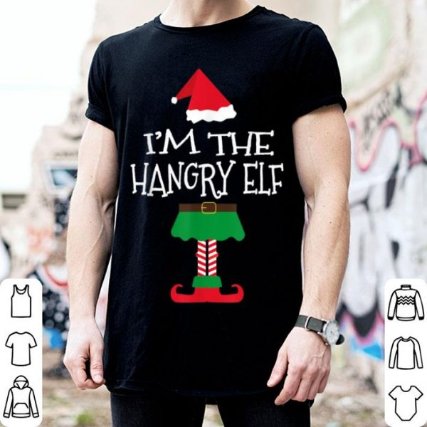 Top Funny I'm The Hangry Elf Christmas Matching Tee Gift sweater