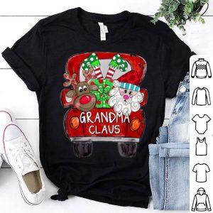 Top Grandma Claus Christmas Red Truck Reindeer Santa Elf Gift sweater