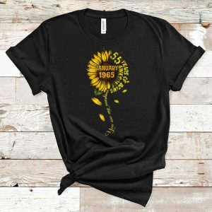 Great January 55 Years Of Being Awesome Sunflower shirt