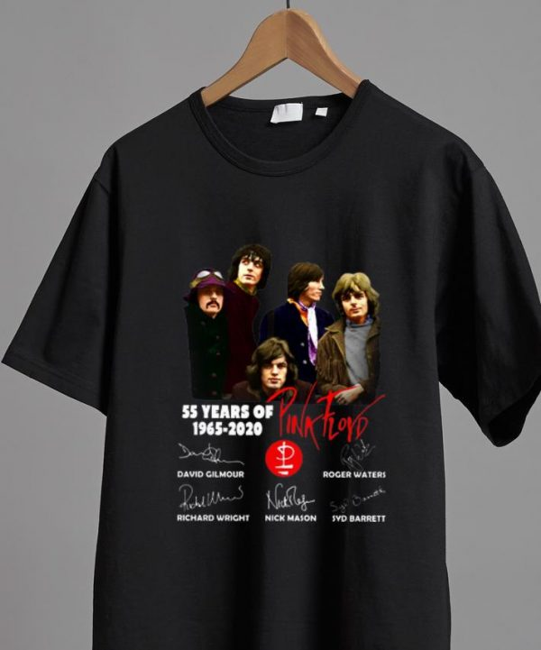 Hot 55 Years Of Pink Floyd 1965-2020 Signatures shirt