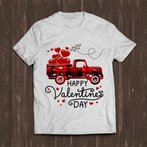 Nice Happy Valentine's Day Red Plaid Truck Heart shirt