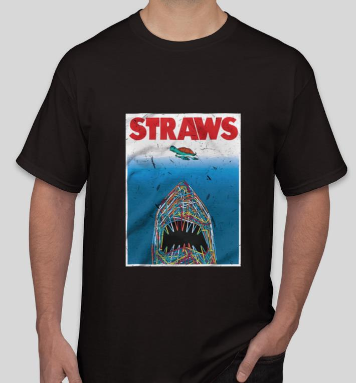 Official Straws Shark Save The Turtles shirt 4 - Official Straws Shark Save The Turtles shirt