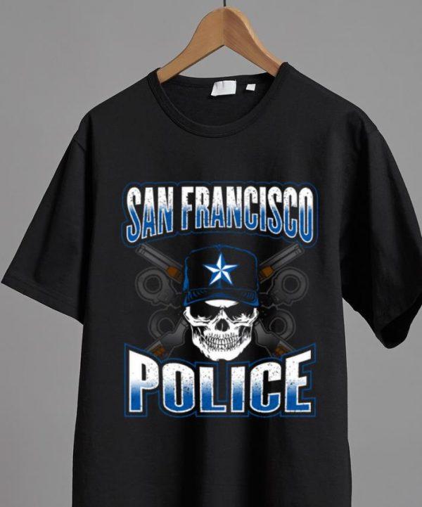 Original San Francisco Police Skull Guns shirt
