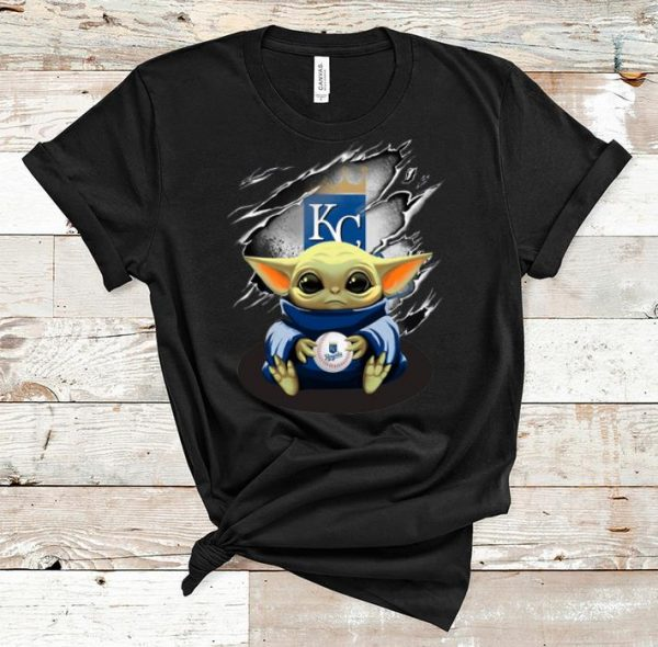 Original Star Wars Baby Yoda Blood Inside Kansas City Royals shirt