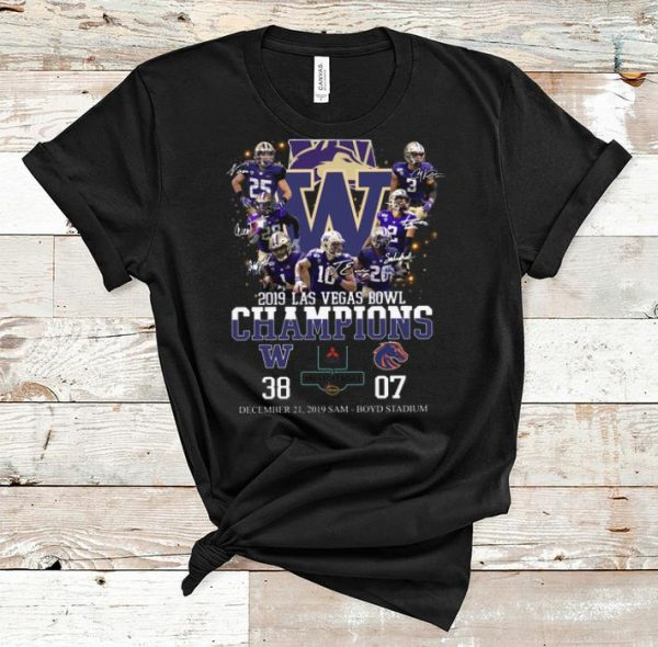 Premium 2019 Las Vegas Bowl Champions Players Signatures shirt
