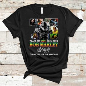 Top 75 Years Of Bob Marley Thank You For The Memories Signature shirt