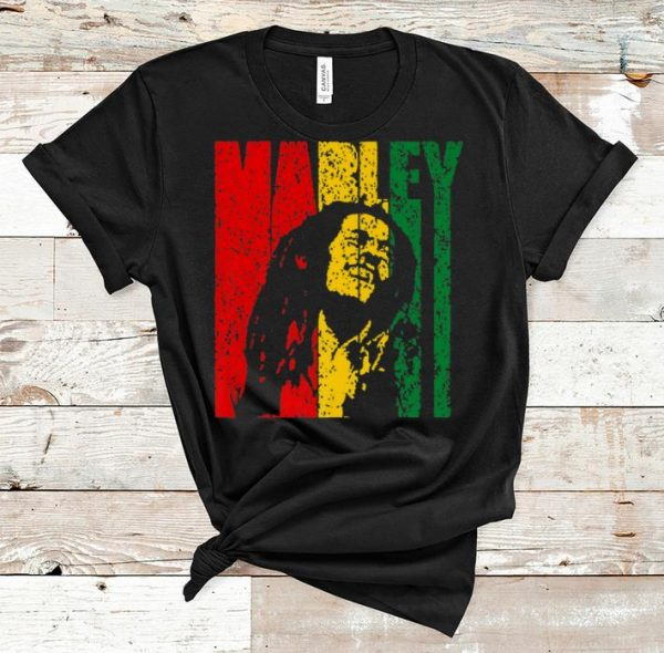 Awesome Bob Marley Vintage Distressed Jamaica Flag shirt