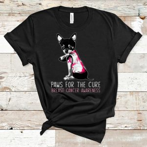 Awesome Chihuahua Paws For The Cure Breast Cancer Awareness Pink Ribbon shirt