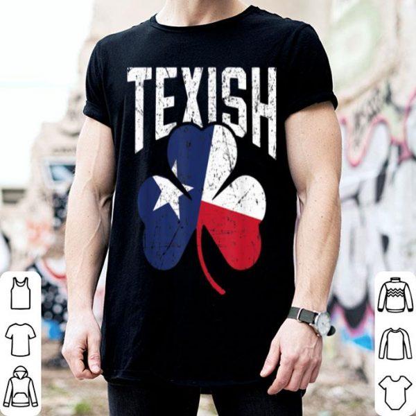 Beautiful St Patricks Day Texish Texas Irish shirt