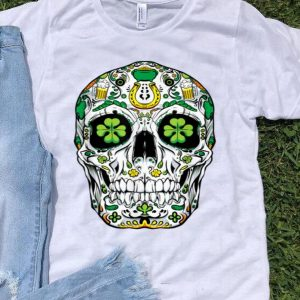 Beautiful Sugar Skull St Patricks Day Of The Dead Women Shamrock Gifts shirt