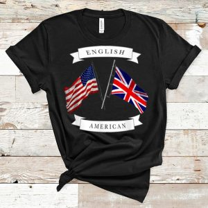 Great English American Flag shirt