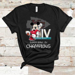 Hot Mickey Mouse Kansas City Chiefs Super Bowl LIV Champions shirt