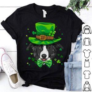Official Border Collie Leprechaun St Patricks Day Dog Boys Men Gift shirt