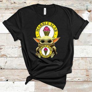 Original Baby Yoda Hug Marble Slab Creamery shirt