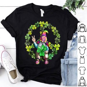 Original Peace Love Good Vibe Gnomes Shamrock St Patricks Day Gift shirt