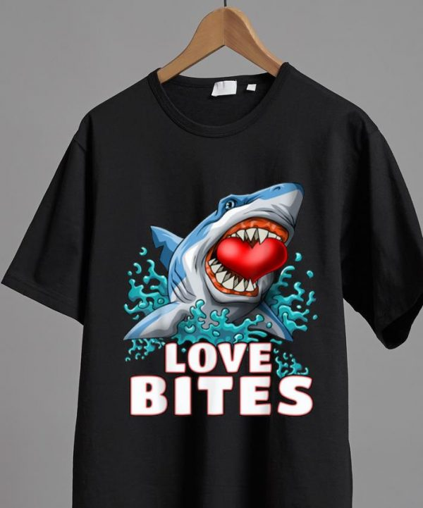 Premium Love Bites Valentines Day Shark shirt