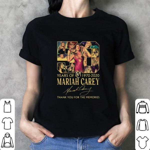Awesome 50 Years Of 1970-2020 Mariah Carey Signature shirt