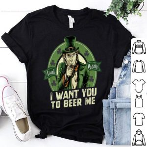 Awesome Beer Me Funny Irish Uncle Sam St Patricks Day Beer Drinking shirt