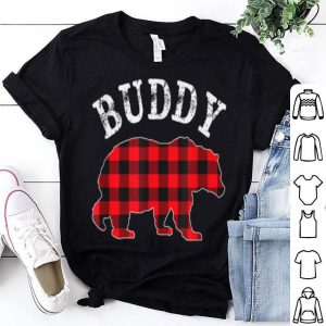 Awesome Buddy Bear Red Black Buffalo Plaid Mama Checkerboard Pattern shirt