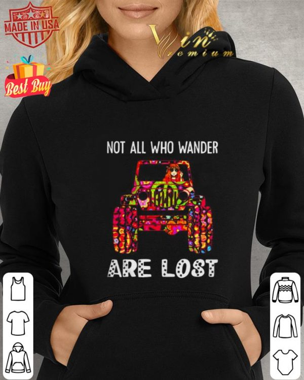 Awesome Hippie Jeep not all who wander are lost shirt