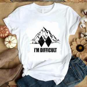 Awesome I'm Difficult Skiing shirt