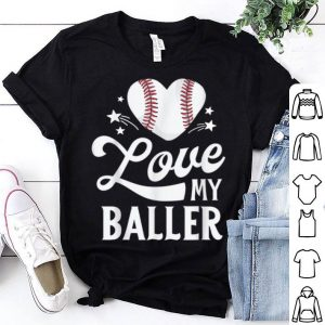 Awesome Mom Baseball Mother's Day Gift Mama I Love My Baller shirt