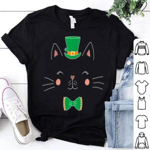 Awesome St Patricks Day Cat Funny With Irish Leprechaun Hat shirt