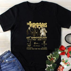 Awesome The Temptations 60th Anniversary 1960 2020 Signatures shirt
