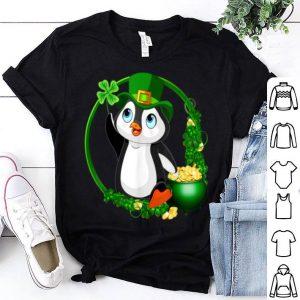Beautiful Cute Penguin Leprechaun St Patrick's Day shirt