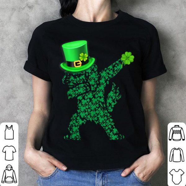 Beautiful Goldendoodle Irish Dabbing Clover St Patrick Day shirt
