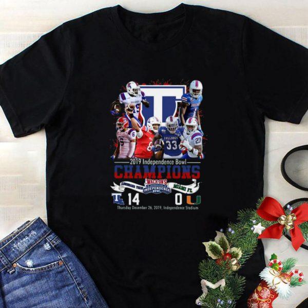Nice 2019 Independence Bowl Champions Louisiana Tech Vs Miami FL shirt
