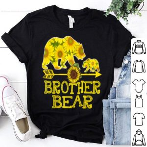 Nice Beautiful Brother Bear Sunflower Funny Mother Father Gifts shirt