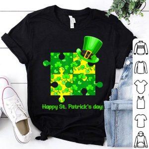 Nice Funny Autism Awareness Puzzle Laprechaun St Patricks Day shirt