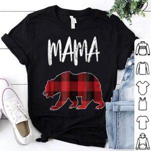 Official Buffalo Plaid Bear Funny Mama Fav Vacations Tee shirt