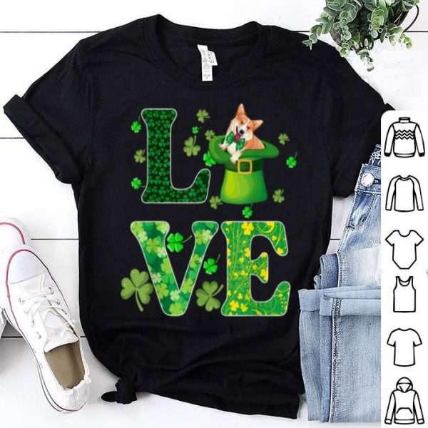 Official Cute Love Corgi St. Patricks Day Dog Dad Mom Gift shirt