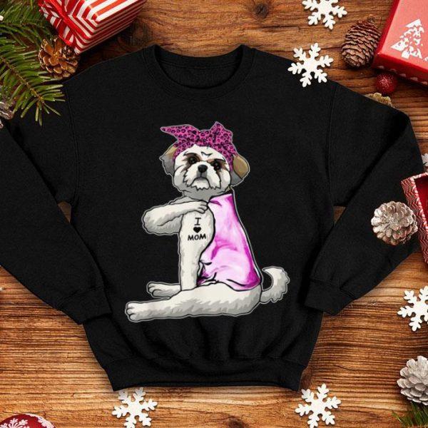 Official Funny Strong Shih Tzu Dog I Love Mom Tattoo Shih Tzu Mom shirt