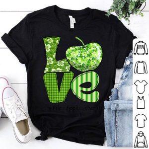 Original Shamrock Love Middle School Teacher St Patrick's Day Teacher shirt