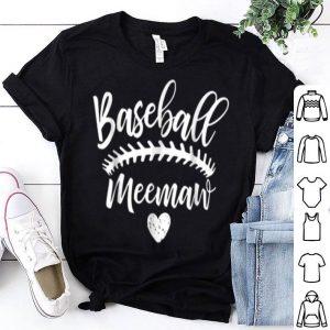 Premium Baseball Meemaw Birthday Mother's Day Christmas Gift shirt
