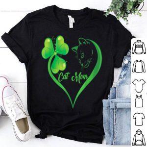 Premium Cat & Shamrock Heart St. Patrick's Day Cat Lover Lucky Paddy shirt