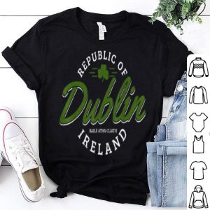 Premium Dublin Ireland Shamrock St. Patricks Day Green Souvenir shirt
