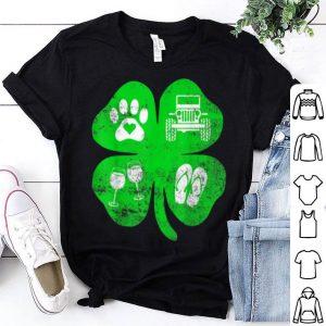 Premium Lucky St Patricks Day For Women Love Dogs Wine Gift shirt