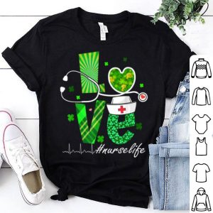 Pretty Love Nurse Practitioner Life St Patrick's Day Gifts shirt