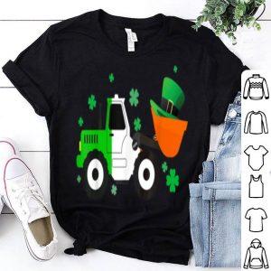 Pretty St Patricks Day Kids Shamrock Truck Boys Leprechaun Irish shirt