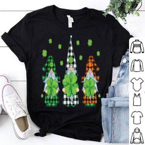 Top Three Gnomes Green Buffalo Plaid St Patricks's Day Gifts shirt