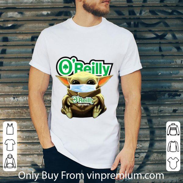 Hot Star Wars Baby Yoda Mask Hug O'Reilly Auto Parts Covid-19 shirt