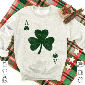 Ace of Shamrocks Green St Patricks Day Poker shirt