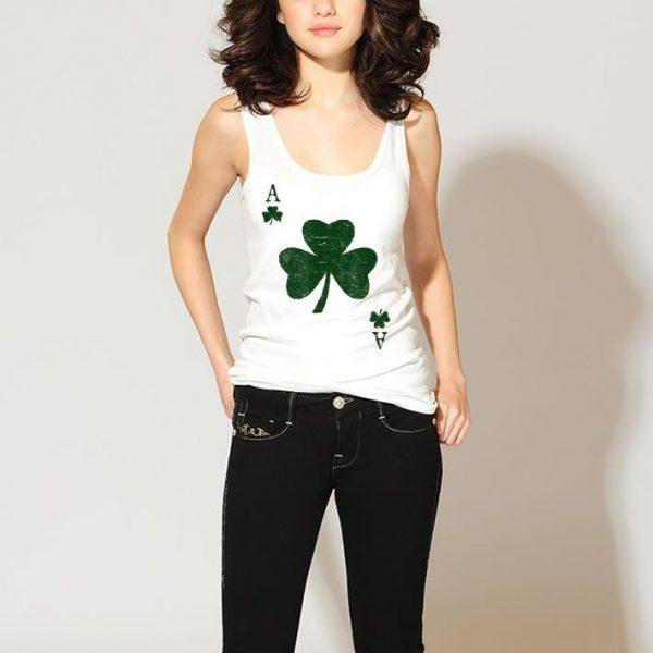 Ace of Shamrocks Green St Patricks Day Poker shirt