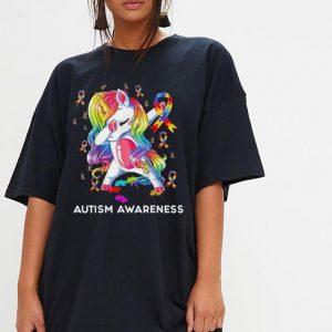 Dabbing Unicorn Puzzle Ribbon Autism awareness shirt 2